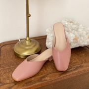 발편한 브이컷 블로퍼 뮬 | 핑크