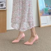 3단쿠션 스틸레토 5cm | 핑크