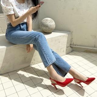 에나멜 슬링백힐 | 빨강