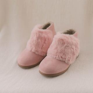퍼찍찍이 여아 아동부츠 | 핑크