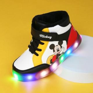 미키마우스 컬러 LED 미드운동화