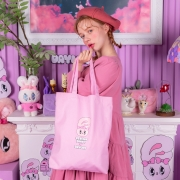 에스더버니 레터링 에코백 | 핑크