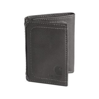 페블 트리폴드 지갑 | 블랙