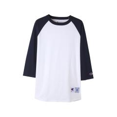 T137 래글런 베이스볼 티셔츠 | 화이트 네이비