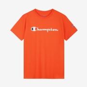 스크립트 로고 반팔티 | 오렌지