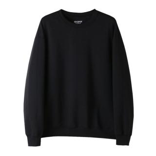 USA핏 무지 맨투맨 | 블랙