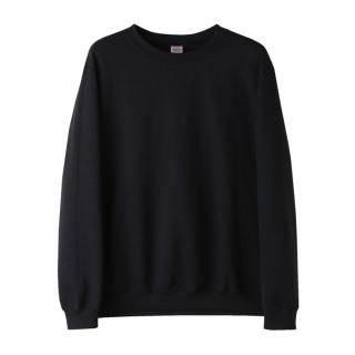 아시안핏 무지 맨투맨 | 블랙