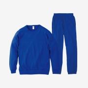 무지 맨투맨 팬츠 세트 | 블루