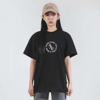 서클 로고 티셔츠
