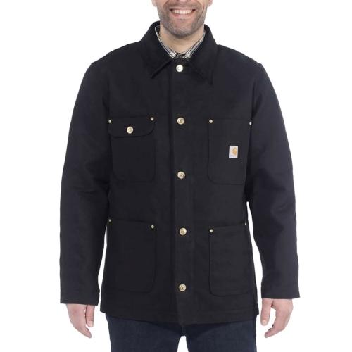 펌 덕 초어 코트 자켓 | 블랙