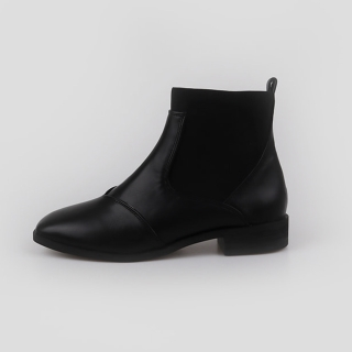 데니스 스판 앵클부츠 2.5cm | 블랙
