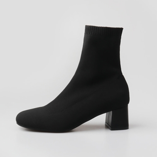 케일라 앵클 삭스부츠 5cm | 블랙 기모안감