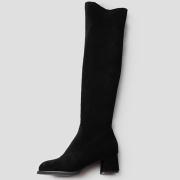 인생 롱부츠 5.5 cm | 블랙 스웨이드
