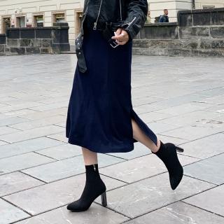 슬림스판 여성앵클부츠 | 블랙