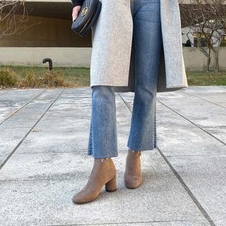 에그라인 스판삭스 여성앵클부츠 | 매력적인브라운