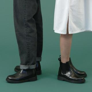 키높이 커플 첼시부츠 로그 | 블랙